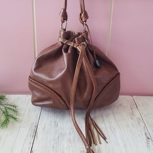 The Sak Brown Leather Hobo Bag